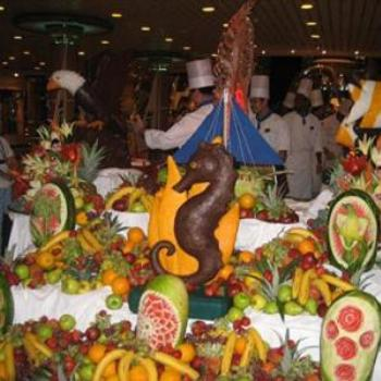 Choclate Show and Buffet on Board of our Cruise.