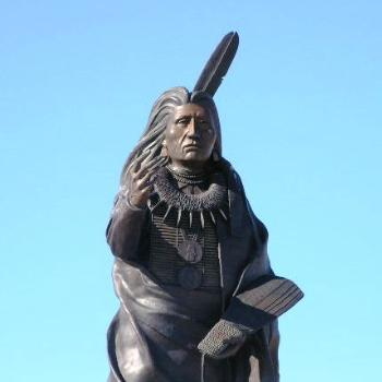 Bronze Sculpture Honoring Ponca Indian Chief Standing Bear, Ponca City Olahoma Sue/OK