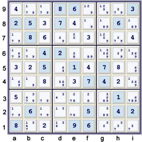 Possibility Matrix at 38 cells solved